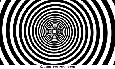 Spiral hypnotic animation Black and white looping animation...