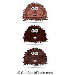 Funny cartoon monster