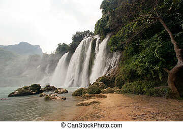 Ban Gioc waterfall in Vietnam