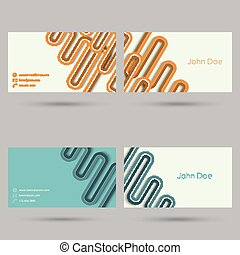 Trendy business card template. Flat design. minimalism