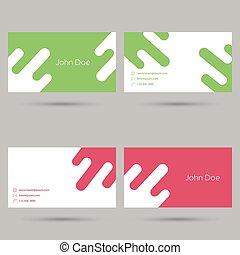 Trendy business card template. Flat design. minimalism. red,...