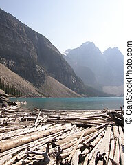 Morraine Lake In The Canadian Rockies