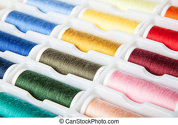 threads in different colors
