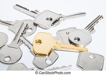dorado, llave,