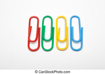 paper clips isolated - paper clips in different colors...