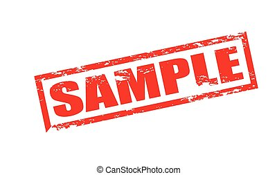 Sample - Rubber stamp with word sample inside, vector...
