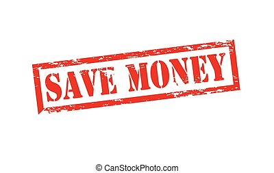 Save money - Rubber stamp with text save money inside,...