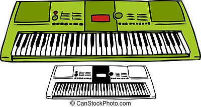 圖畫, 鍵盤