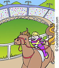 kentucky derby cartoon.