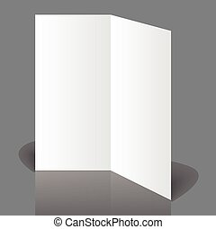 White blank - Stationary positioned blank two fold paper...