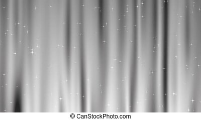 Star Tapestry White Loop - Sparkling star particles fall and...