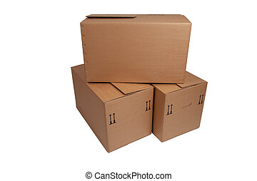 moving box on white background