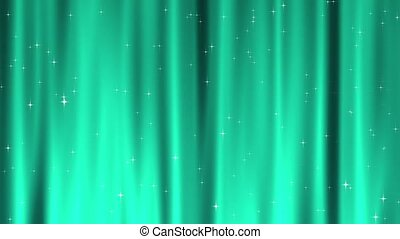 Star Tapestry Teal Loop - Sparkling star particles fall and...