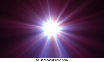 Light shining star with long rays