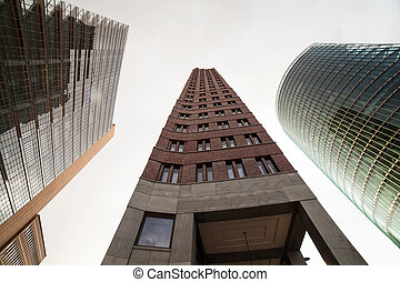 buildings at potsdamer platz in berlin