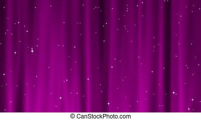 Star Tapestry Pink Loop - Sparkling star particles fall and...