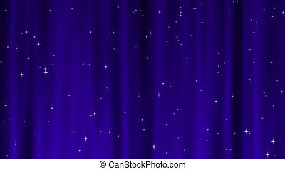 Star Tapestry Purple Loop - Sparkling star particles fall...