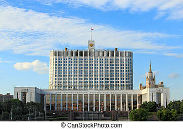Government House of the Russian Federation, Moscow, Russia.