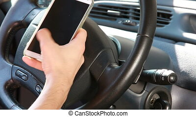 Texting with a smart phone