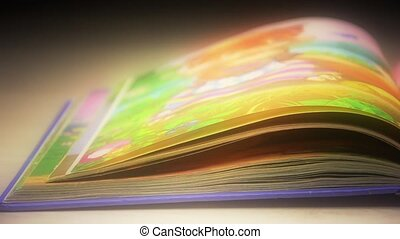 Flipping book pages