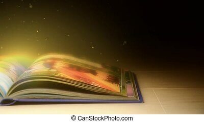 Book with magical stories - The magic book. Book with...