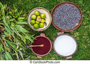 peruwiański,  cochineal,  Cuzco, Andy,  peru, Barwnik