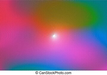 Abstract rainbow spiral, colorful background colored circles...