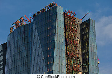 modern business office exterior building with glass facade