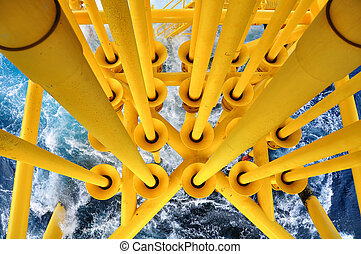 Oil and Gas Producing Slots at Offshore Platform, The...