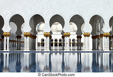 Sheikh Zayed Grand Mosque - A side view of the Sheikh Zayed...