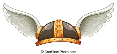 A viking's headgear on a white background