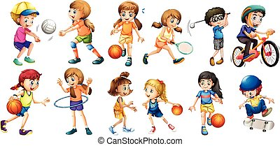 Sports - Illustration of children doing different sport