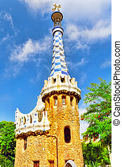 Gorgeous and amazing Park Guel in Barcelona. Spain