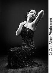 Glamorous woman posing