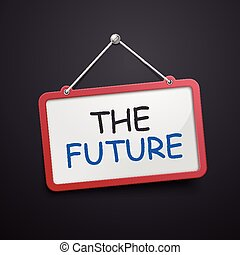 the future hanging sign