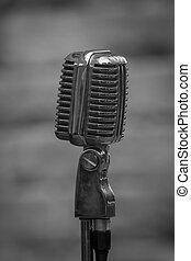 1940 era microphone - 1940 ear microphone in black and...