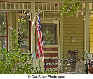 Americana Doorway Porch - This doorway porch area is...