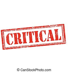 Critical-stamp - Grunge rubber stamp with text...