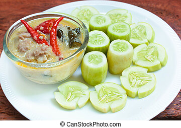 Simmer pork chops with cucumber - Stew pork with coconut...