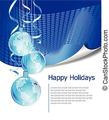 Christmas business greeting card with free space for text -...