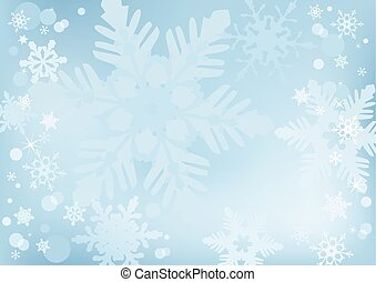 Blizzard - Beautiful winter snow background for banners,...