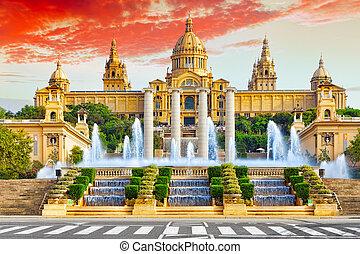 National Museum in Barcelona,Placa De Espanya,Spain.