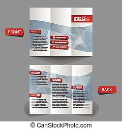 Tri fold brochure design. mock up. corporate brochure or...