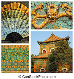chinese culture art collage