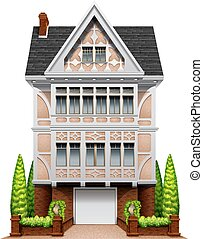 House - Illustration of a single house
