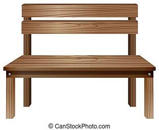 Bench - Illustration of a close up wooden bench
