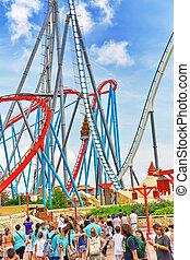 Amusement park in Spain near Salou- Port Aventura. Salou