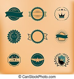Vector Set of Retro Stamps and Badges.
