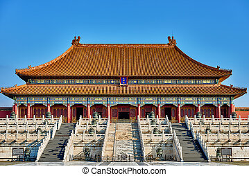 Taihedian Home Of Supreme Harmony Imperial Palace Forbidden...