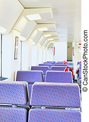 Interior of the high-speed train. Spain